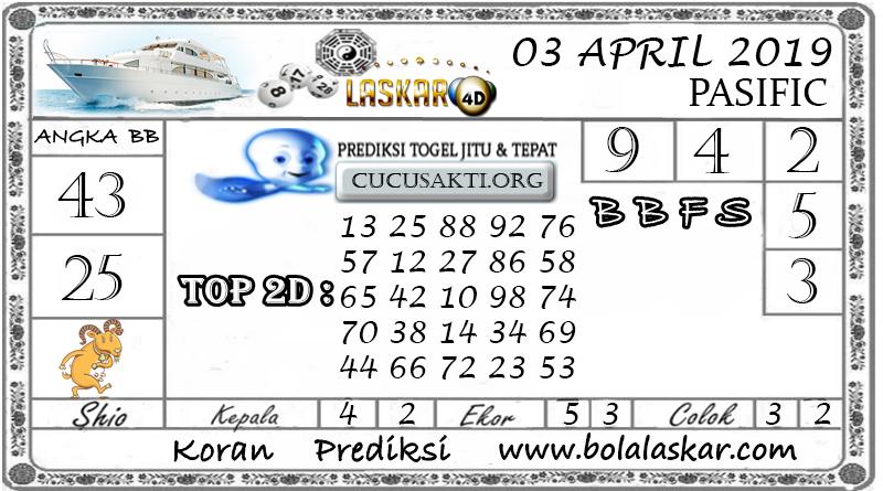 Prediksi Togel PASIFIC LASKAR4D 03 APRIL 2019