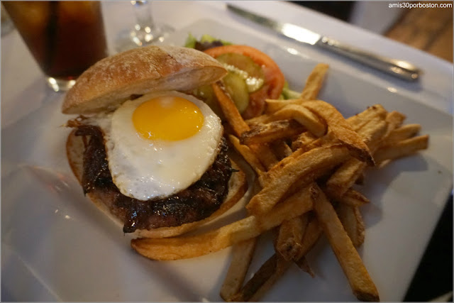 Certified Angus Burger  $12 + Sunny-Side up Egg $3 + Caramelized Onions $1