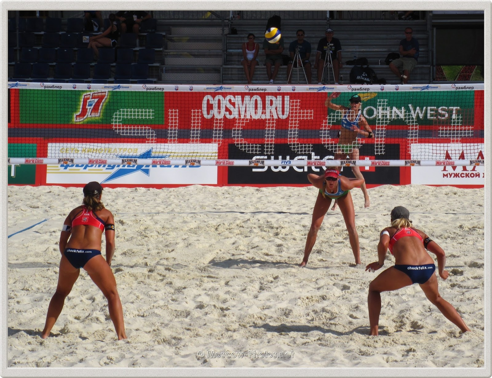 Beach Volleyball Game In Moscow