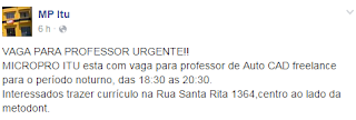 Professor de Autocad Freelancer - Itu