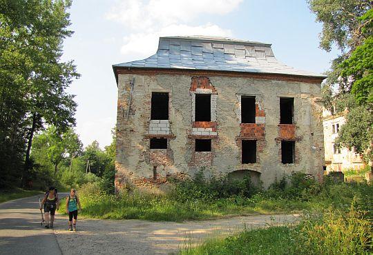 Ruiny pałacu w Wilkanowie.