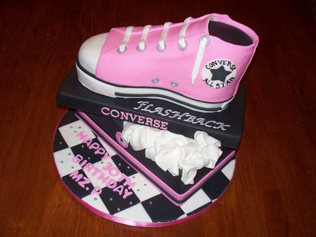 8. Converse shoe and shoe box cake by Andrea's SweetCakes