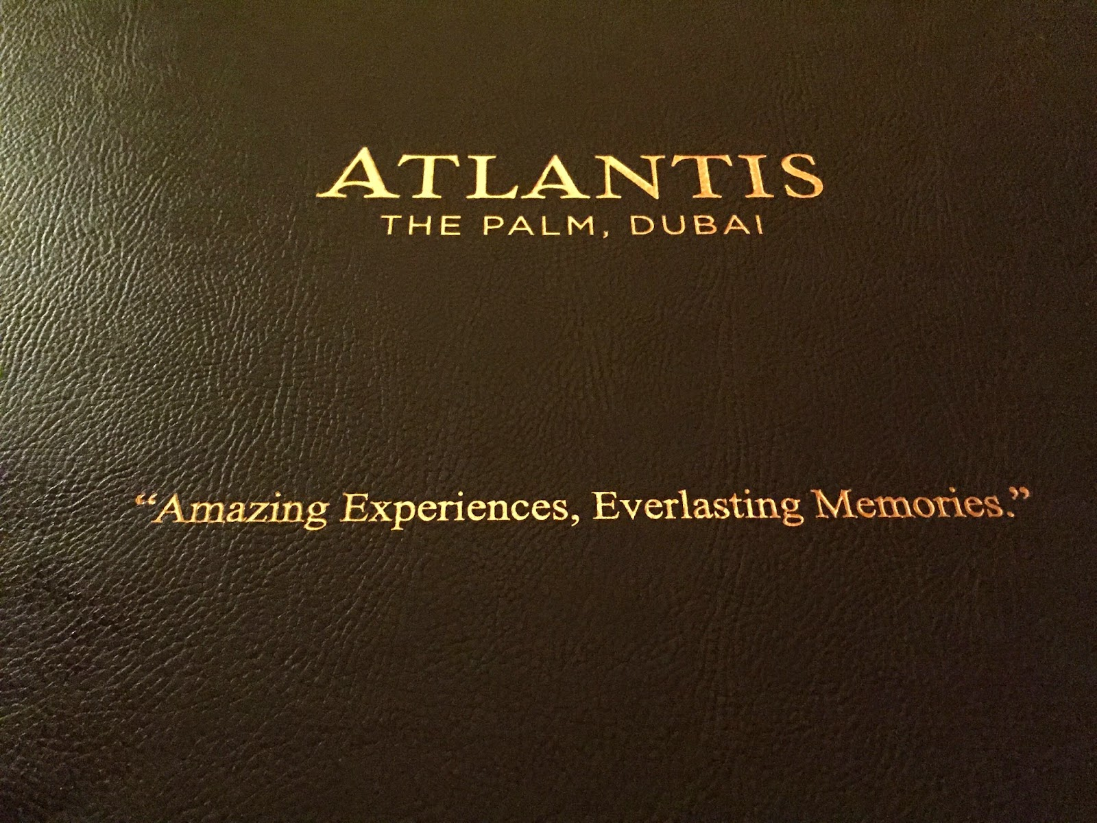 Seafire at Atlantis: main course in a box