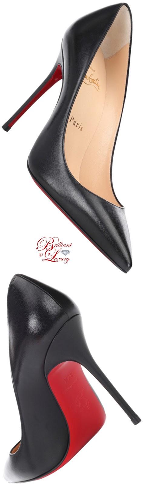 Brilliant Luxury ♦ Christian Louboutin Décolleté 554 leather pumps in black 2018