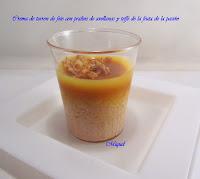 Crema de turrón de foie con praliné de avellanas, toffe de fruta de la pasión cebolla crujiente