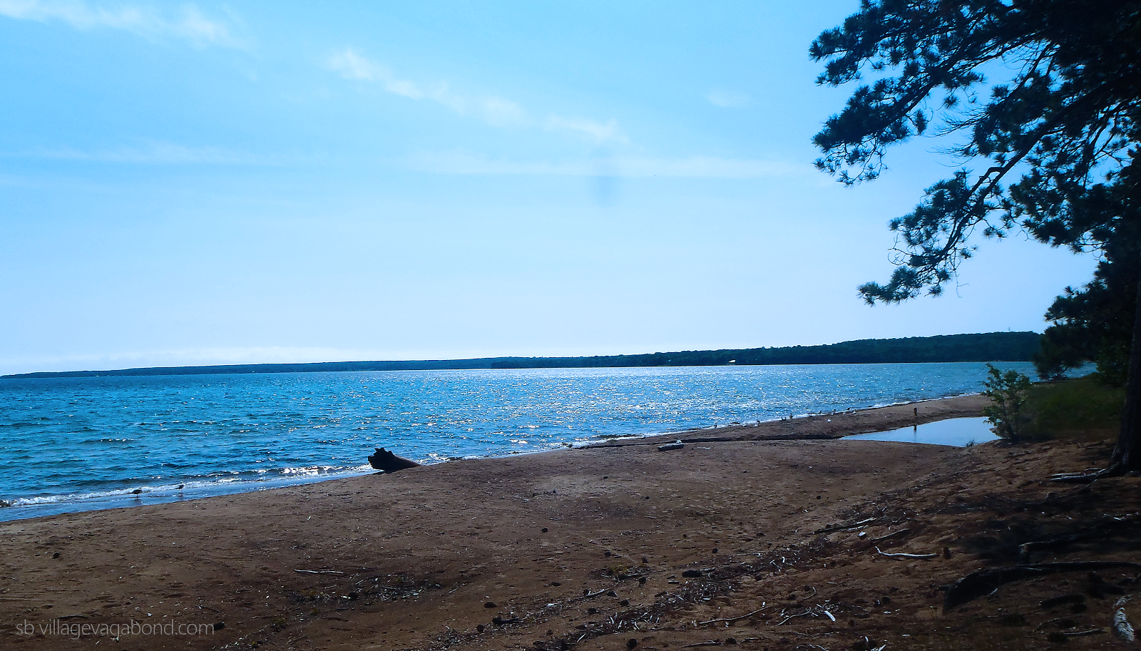 Lake Superior sparkles in the sun at Batchawana Bay Provincial Park.