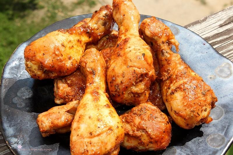 Pieczone udka z kurczaka w marynacie jogurtowo-miodowej na ostro