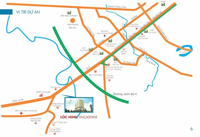 Vị trí chung cư Lộc Ninh.