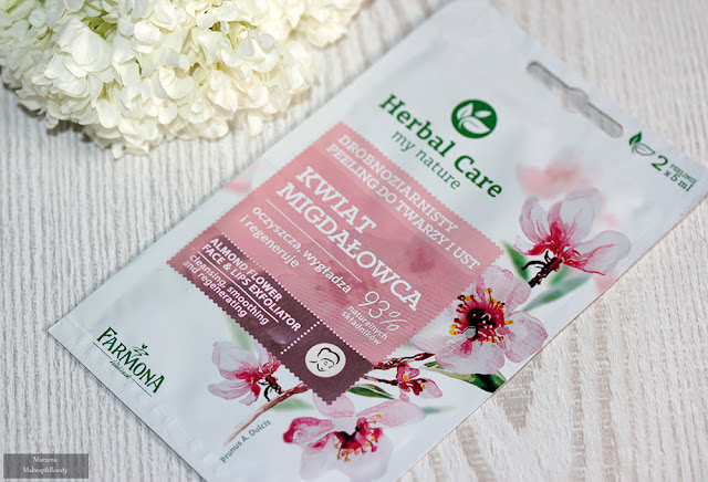 Farmona Herbal Care - drobnoziarnisty peeling do twarzy i ust Kwiat Migdałowca