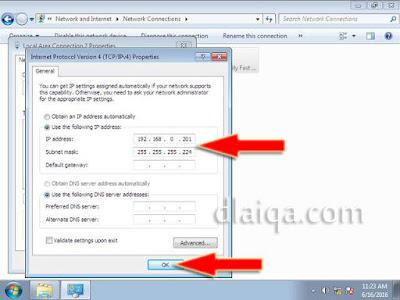 setting ip address