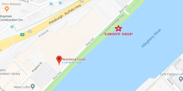 Google map of Pittsburgh Ghost Ship