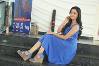 Divya Nandini stunning Beauty in blue Dress at Trendz Exhibition Launch ~  Celebrities Galleries 026.JPG