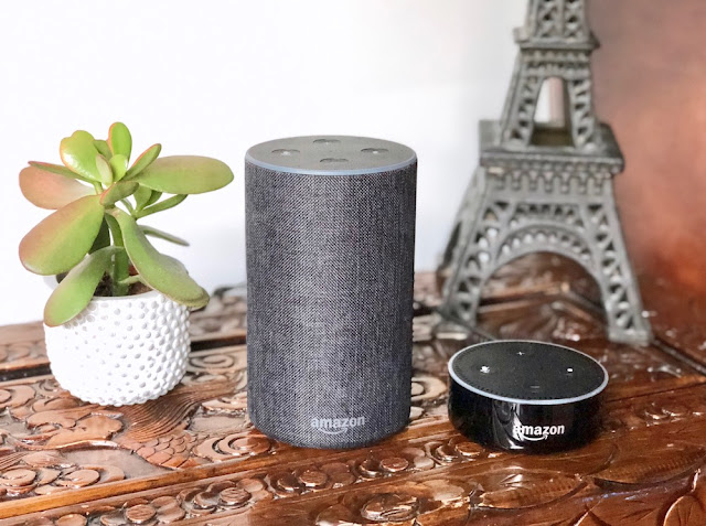 Amazon Echo - Charcoal Fabric - Echo Dot