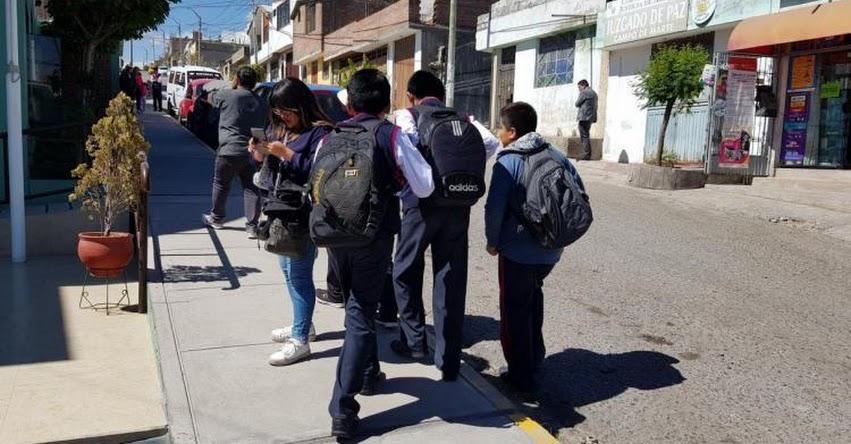 Detienen a profesor que golpeó a 18 alumnos de Arequipa por no cumplir con la tarea