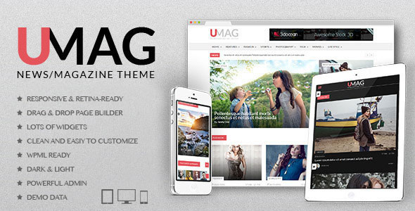 Free Download UMag Responsive WordPress News/Magazine Theme