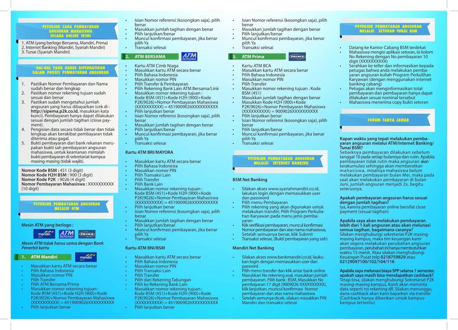 Sipema p2k - sistem pembayaran mahasiswa 1