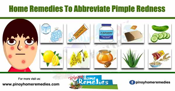 Home Remedies To Abbreviate Pimple Redness