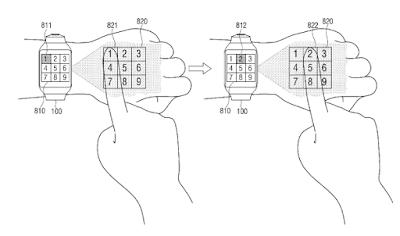 Samsung paten sebuah smartwatch proyektor
