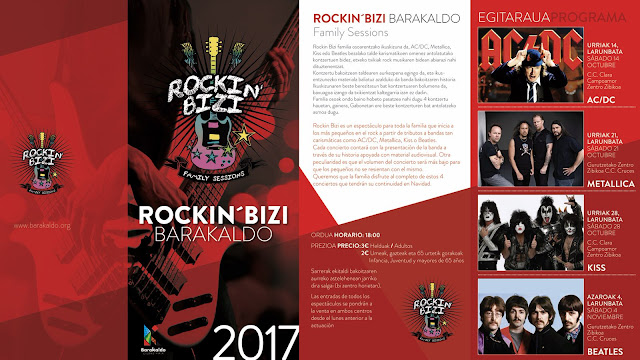 Cartel del programa de actuaciones de rock para niños