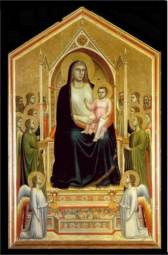 Ognissanti Madonna - Giotto di Bondone e suas pinturas ~ Primeiro a introduzi a perspectiva na pintura
