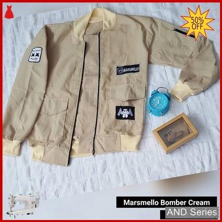AND245 Jaket Wanita Marshmello Bomber Cream BMGShop