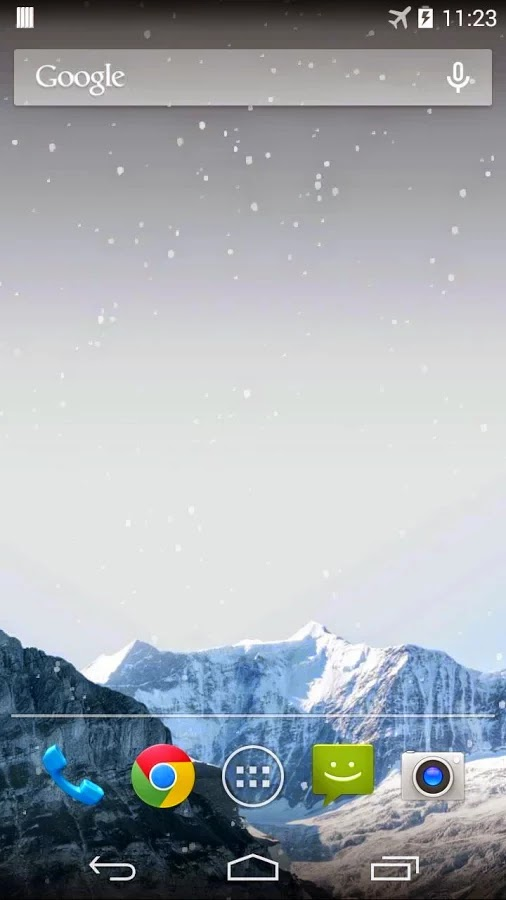 Snow Mountain Live Wallpaper with snow falling