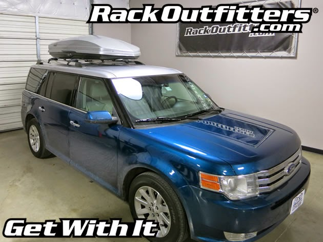 Ford Flex Thule Silver AeroBlade Edge Roof Rack with Thule