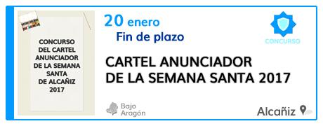 Concurso del cartel anunciador de la Semana Santa de Alcañiz 2017