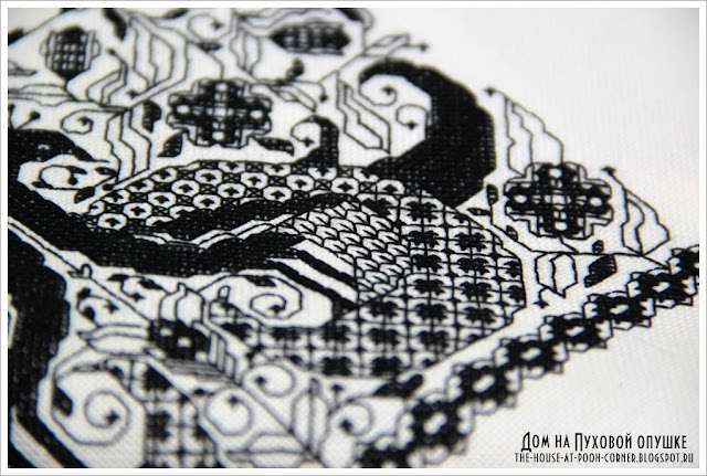 Traditional embroidery blackwork