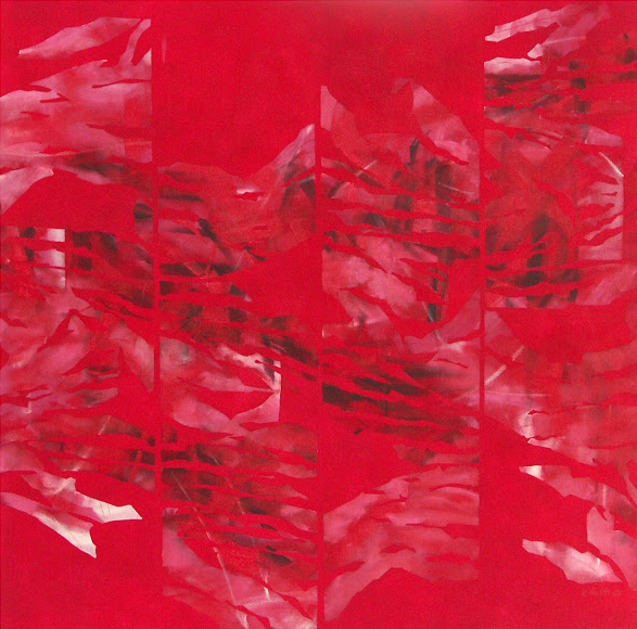 Red - Painting from the Fragments Series - Rosemary Marchetta