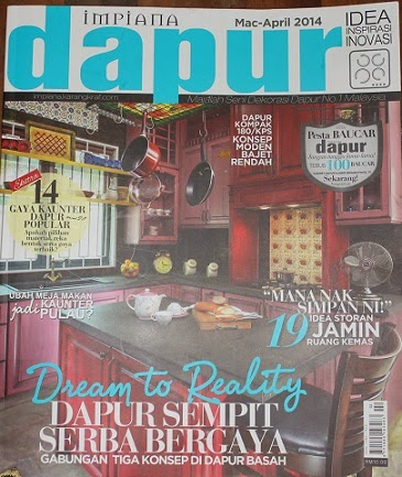 My Craft Is Featured In The Latest Issue Of Dapur Impiana Look For Diy Section Where I Show How To Decorate Kitchen Items