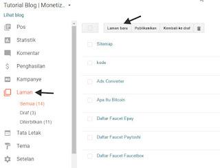 Cara Membuat Sitemap Blog