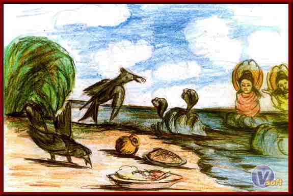 The Story of the Fool Crows ~ Jatak Tales In Hindi | मूर्ख कौवों की कहानी ~ जातक कथाएँ