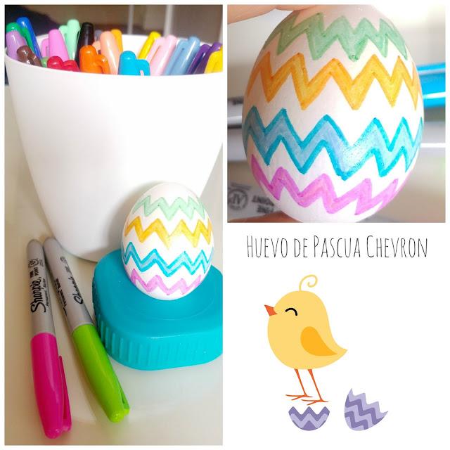 Huevo de pascua con sharpie pens, easter egg