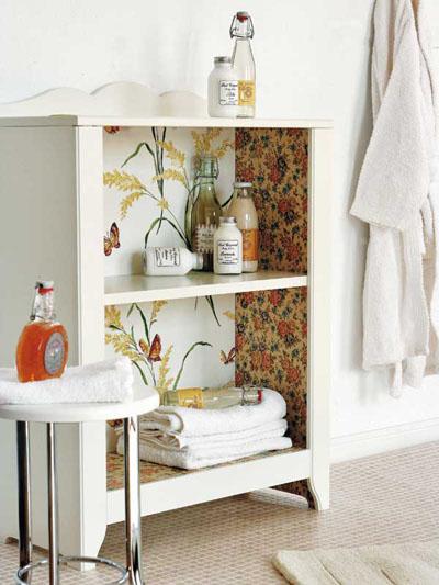 Cosas de palmichula forrar muebles con papel pintado - Como decorar una vitrina ...