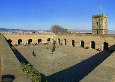 Parade Ground of Montjuic castle in Barcelona