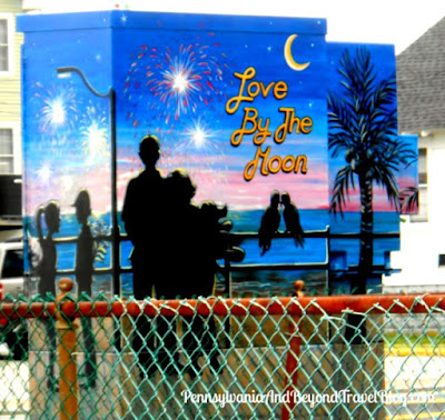 Love by the Moon Street Art in Wildwood - New Jersey