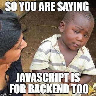 javascript backend