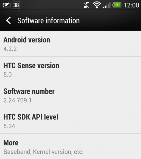 HTC, HTC One, Android 4.2.2, Android 4.2.2 Jelly Bean