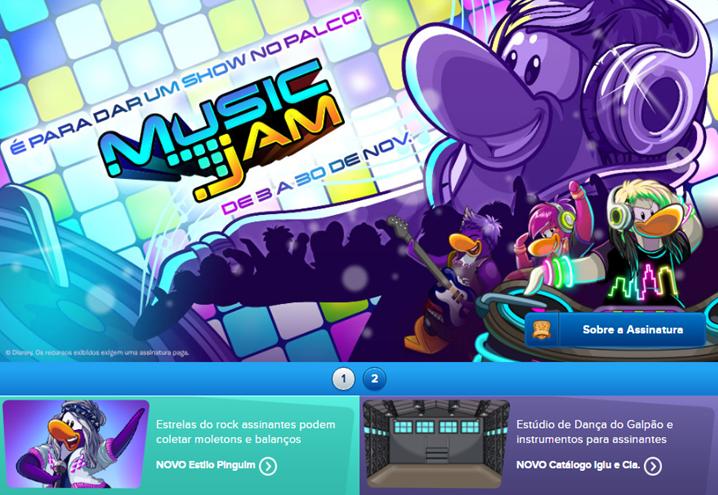 Resultado de imagem para página inicial Music Jam 2016