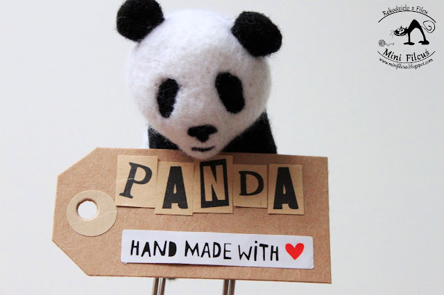 Spinacz z filcu – Panda