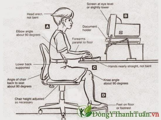 Ngồi đúng tư thế là cách đau lưng dai dẳng