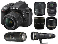 Nikon-d3300-lenses