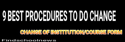 Procedures to change jamb institution and course