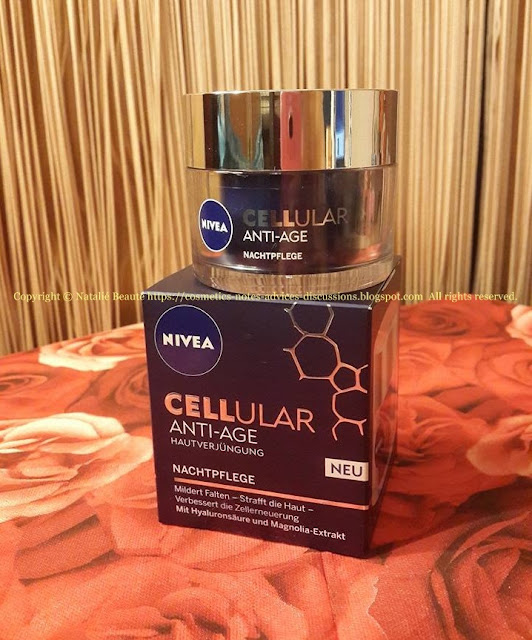 CELLULAR ANTI-AGE SKIN REJUVENATION NIGHT CREAM REVIEW AND PHOTOS NATALIE BEAUTE