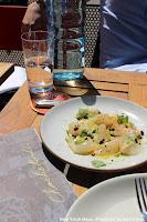 Montauk Fluke Crudo: Basil, Lime, Olio Nuovo at Charlie Bird