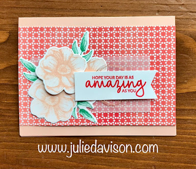 Stampin' Up! Painted Seasons Card ~ 2019 Sale-a-bration ~ www.juliedavison.com