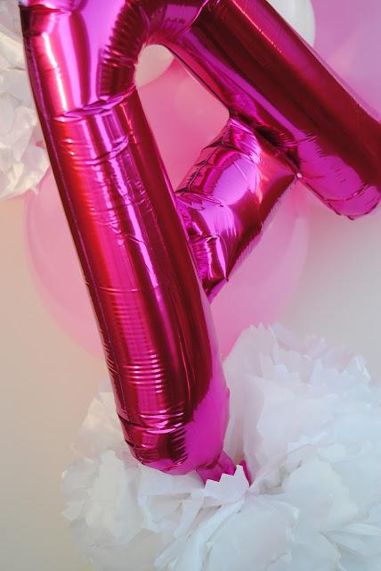 lettera ballon particolare allestimento Primo Compleanno