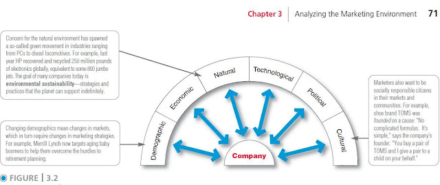 Where should we start analyzing the marketing environment
