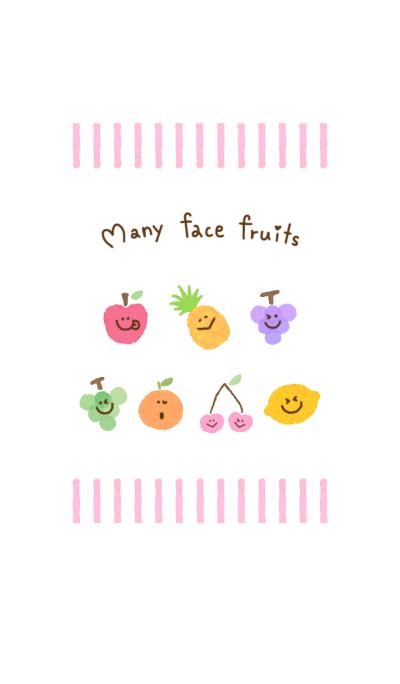 Many face fruits